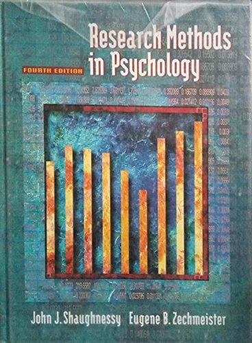 Research Methods in Psychology: Eugene B. Zechmeister;