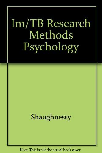 9780070572737: Im/TB Research Methods Psychology