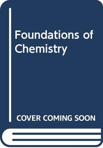 9780070572850: Foundations of Chemistry