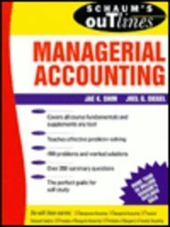 9780070573055: Schaum's Outline of Theory and Problems of Managerial Accounting