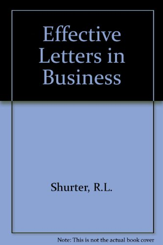 9780070573406: Effective Letters in Business