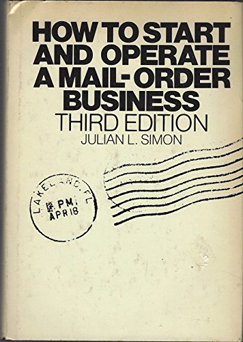 9780070574175: How to Start and Operate a Small Mail Order Business