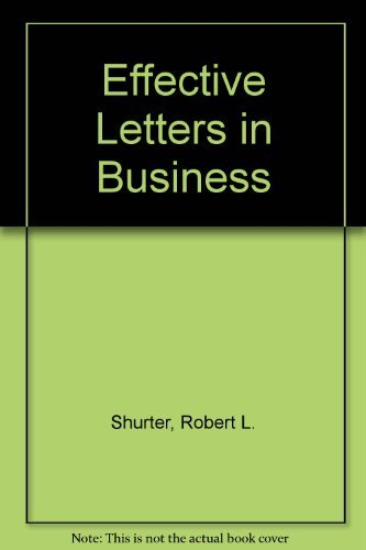 9780070574854: Effective Letters in Business