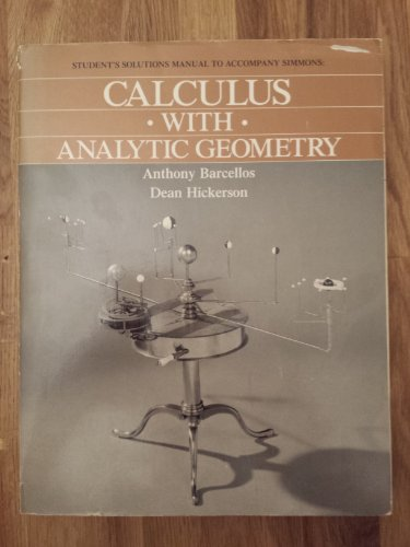 9780070575295: Calculus With Analytic Geometry