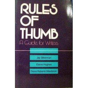 9780070575486: Rules of thumb: A guide for writers