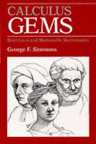 9780070575660: Calculus Gems: Brief Lives and Memorable Mathematics