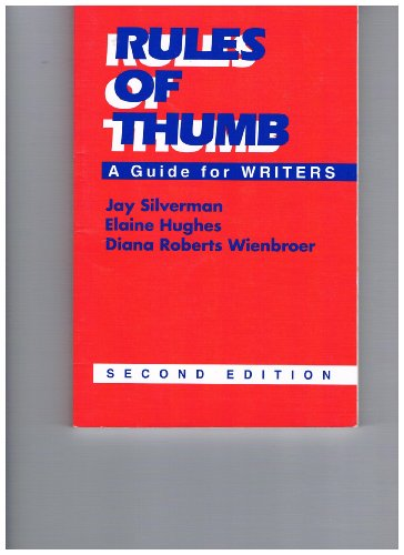 9780070575820: Rules of Thumb: A Guide for Writers