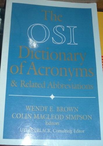 9780070576018: The Concise OSI Acronym Dictionary