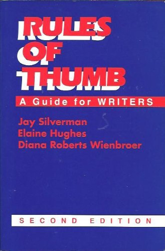 9780070576117: Rules of Thumb: A Guide for Writers