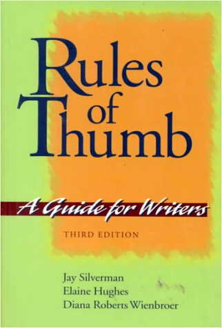 9780070576407: Rules of Thumb: A Guide for Writers