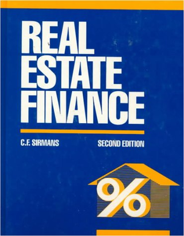 Real estate finance by sirmans c f mcgraw hill college for Mcgraw hill real estate