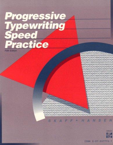 9780070577756: Progressive Typewriting Speed Practice
