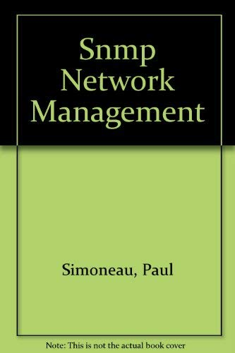 9780070578111: Snmp Network Management