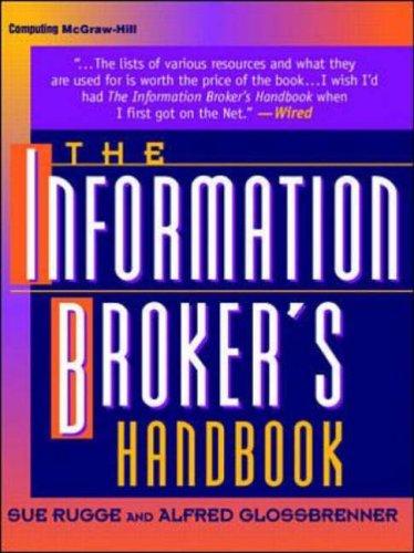 9780070578708: Information Broker's Handbook