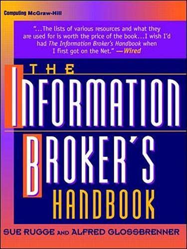 9780070578708: The Information Broker's Handbook