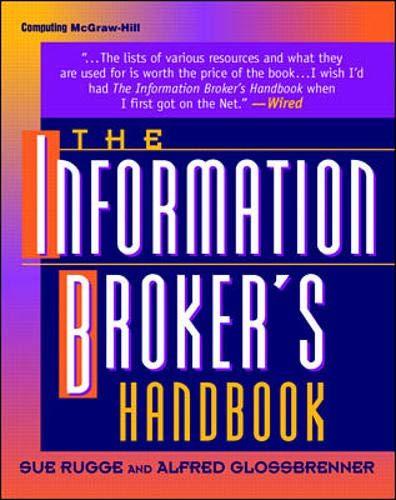 9780070578715: The Information Broker's Handbook