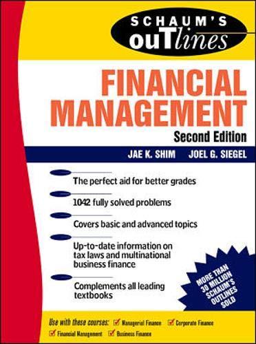 Schaum's Outline of Financial Management: Shim, Jae K