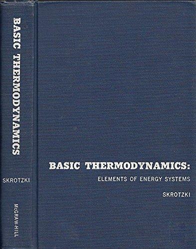 9780070579453: Basic Thermodynamics Elements of Energy Systems
