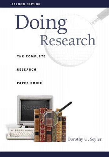 Doing Research: Seyler,Dorothy