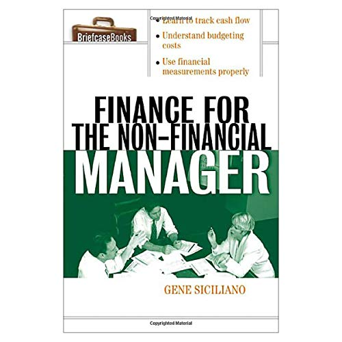 9780070581180: [(Finance for Non-Financial Managers)] [by: Gene Siciliano]