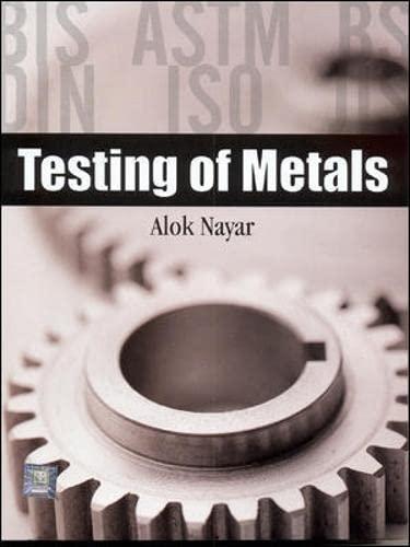 9780070581647: Testing of Metals