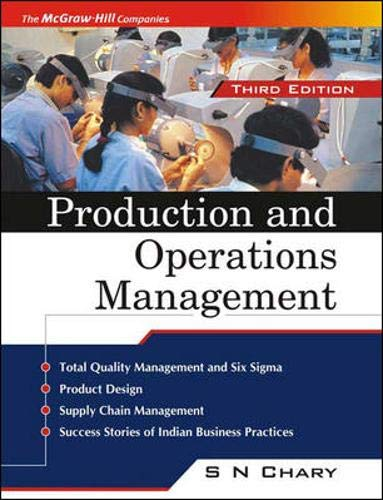 9780070583559: Production and Operations Management