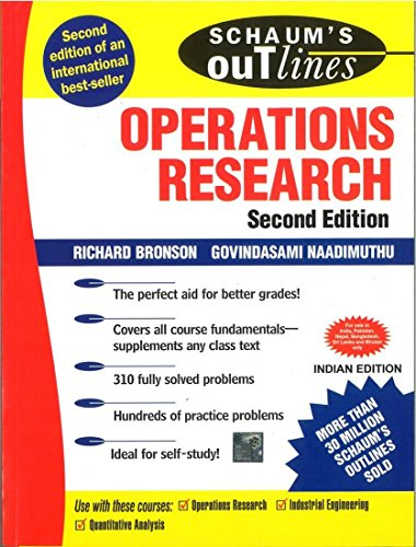 9780070584006: Operations Research 2/E (Schaum's Outline Series) [Paperback] by Richard Bronson