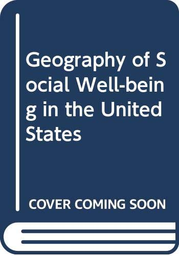 9780070585508: Geography of Social Well-being in the United States (McGraw-Hill problems series in geography)