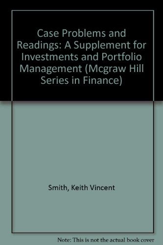 9780070585522: Case Problems and Readings: A Supplement for Investments and Portfolio Management (Mcgraw Hill Series in Finance)