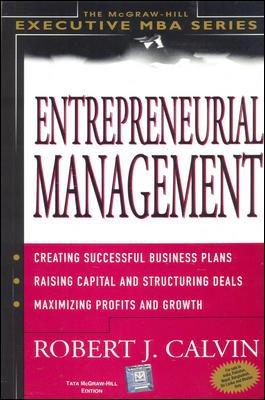 9780070586161: Entrepreneurial Management (Executive MBA Series)