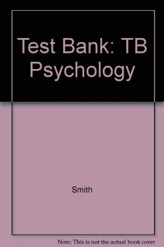 9780070586543: Test Bank: TB Psychology