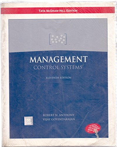 9780070587564: MANAGEMENT CONTROL SYSTEMS