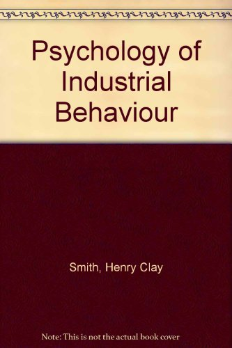 9780070589001: Psychology of Industrial Behaviour