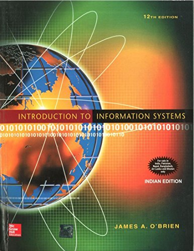 9780070589711: Introduction to Information Systems, 12th Edition- International Edition