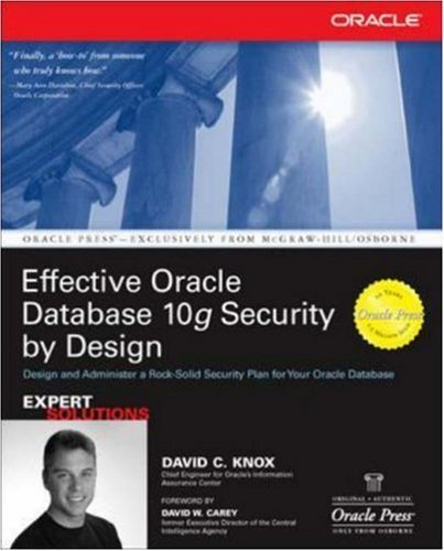 9780070589728: Effective Oracle Database 10G Security By Design