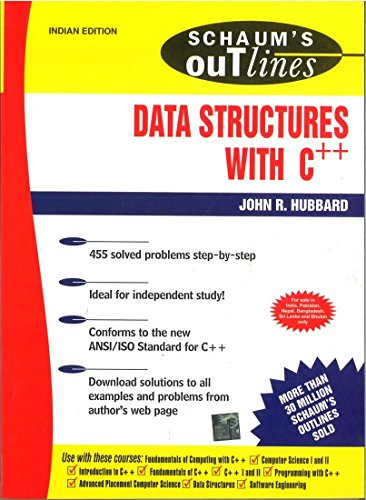 9780070590250: Schaums Outline of Data Structures with C++