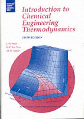9780070592391: Intro to Chemical Engineering Thermodynamics