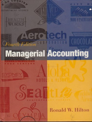 9780070593398: Managerial Accounting