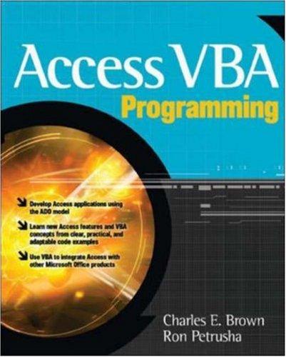 9780070594081: [(Access VBA Programming)] [by: Charles E. Brown]