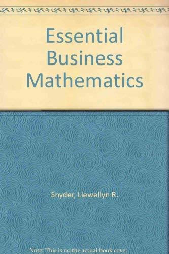 9780070595354: Essential Business Mathematics