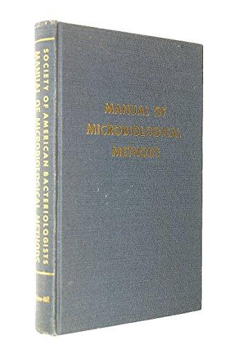 9780070595569: Manual of Microbiological Methods.