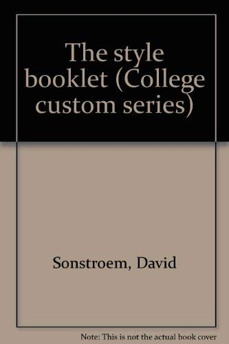 9780070596771: The style booklet (College custom series)