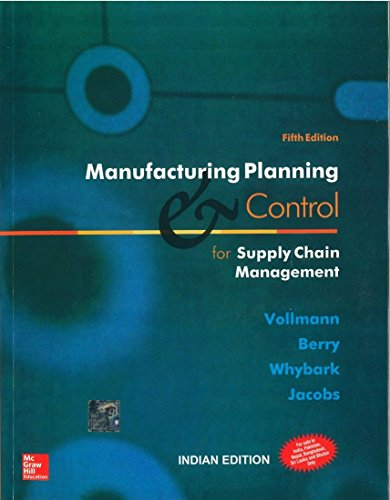 Manufacturing Planning and Control Systems for Supply: Thomas Vollmann