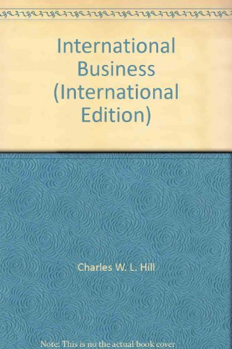 9780070598690: International Business (International Edition) [Paperback] by Charles W. L. Hill