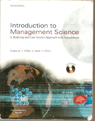 9780070599680: Introduction to Management Science: A Modeling and Case Studies Approach with Spreadsheets (CD Included)