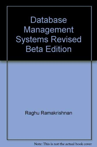 9780070599857: Database Management Systems Revised Beta Edition