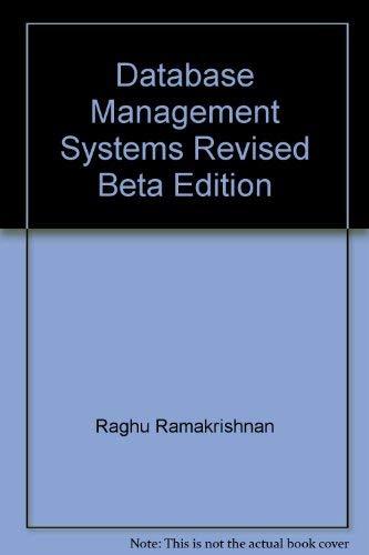 9780070599857: Database Management Systems Ed by Raghu Rama-Krishnan
