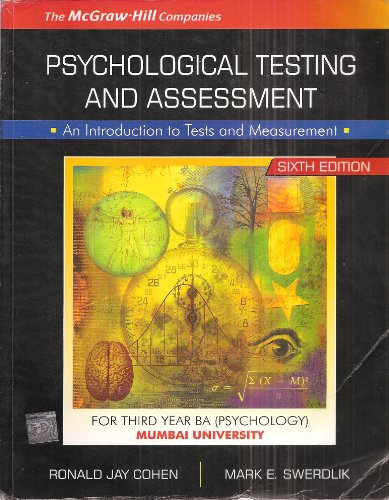 9780070600850: Psychological Testing and Assessment: An Introduction to Tests and Measurement Sixth Edition (For Third Year BA - Psychology, Mumbai University)