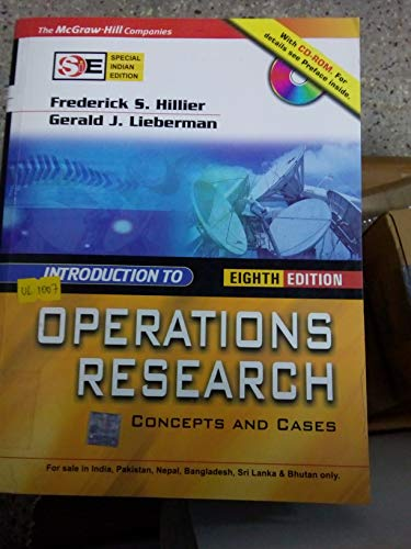 9780070600928: Introduction to Operations Research