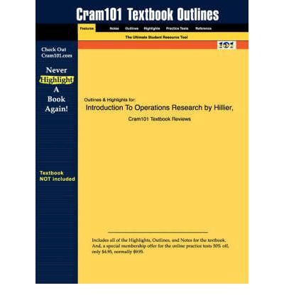 9780070600928: Introduction to Operations Reearch Concepts ans Cases (Special Indian Edition)